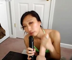 kemply sucking big dildos