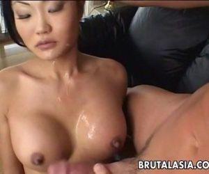 Asian brunette..