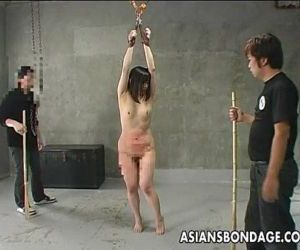 Asian slut getting ass spanked..
