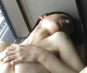 Solo session where the Asian babe..