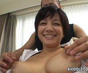 Cute Meguru Kosaka big tits..