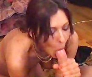 Playful brunette blowjob cocktease