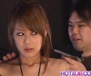 Sakurako has cum pouring from mouth