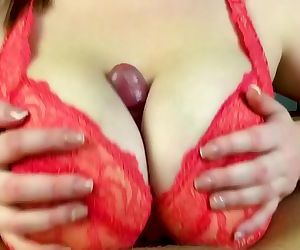 Hot amateur tits fuck - Pov close up tits job from my..