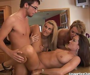 3 MILF Babes Gang Bang The Car Wash Guy
