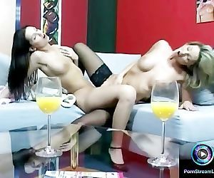 Dazzling lesbian actions featuring Caroline Cage and Eve..