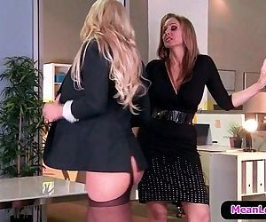 Hot and Mean Lesbian PornDisciplinary Action Part One with..