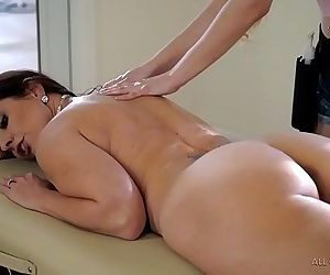 Stepdaughter does special massage on her MomSamantha..