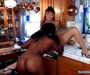 Hot interracial lesbian action