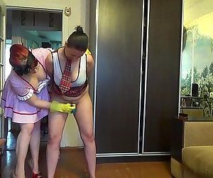 Mommy punishing her young daughter for being so sexy with..