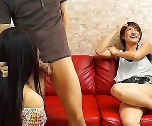JAV having sex while my friend watches begins Subtitled 5..