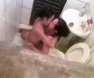 Spying my lesbian sister in bathroom with girlfriend...