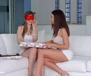 Henessy and Stella Cox in Christmas came late lesbian..
