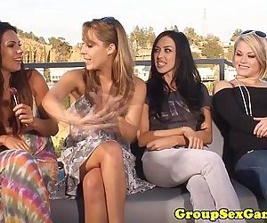 Outdoor lesbian sexgame contestHD