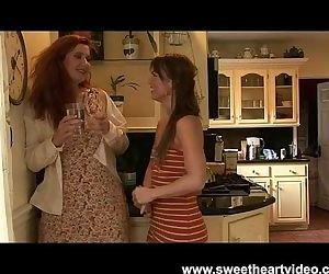 Sexy Red head lesbian MILF Fucks Friend