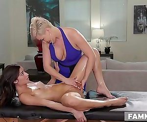 Open Minded Step Daughter Gets a MassageRyan Keely and..