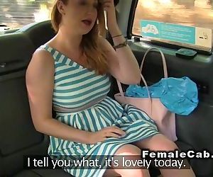 Lesbians playing with dildo in fake taxiHD