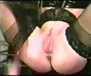 Vintage pussy whipping, bondage and nipple clamps -..
