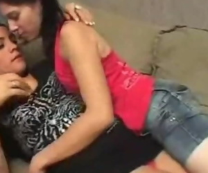 Lesbian Aunt kissing her Step-niece