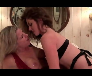 Amateurs Nikki and Mandy having Fun with a Strap on