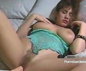 Busty 80s lesbian Porn star