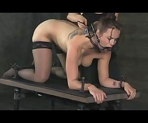 Lesbian Slave Bella Chained In