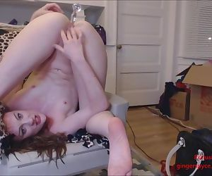 Drunk Slut Drinks Her Piss and Anal Squirts Upside Down