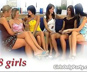 Sexy girls in a hot lesbian orgy - 5 min