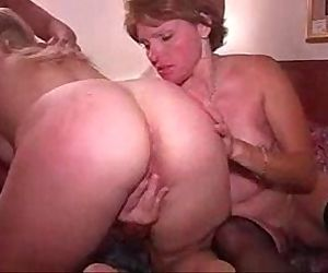 Amateur home made video. My wife first time lesbian sex - 2 min