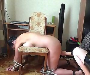 Tickle, spanking, fuck mashine and hitachi tortures for my slave KateHD