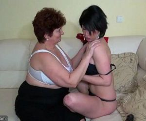 Oldnanny old fat grannies masturbating and enjoying with young girlHD