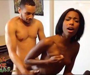 Big Booty Adriana Malao & Donny Sinns Homegrown Sextape In Kitchen - 1 min 33 sec