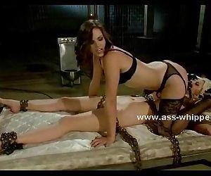 Horny sexy brunette lesbian misstresses