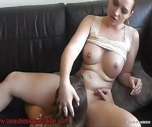 lesbian mistress queens her sub
