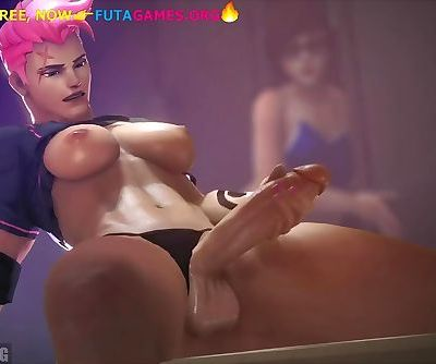 Futanari threesome compilation, 3d porn game