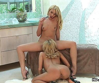 Blonde babes love to munch on the wet pussy - 8 min HD