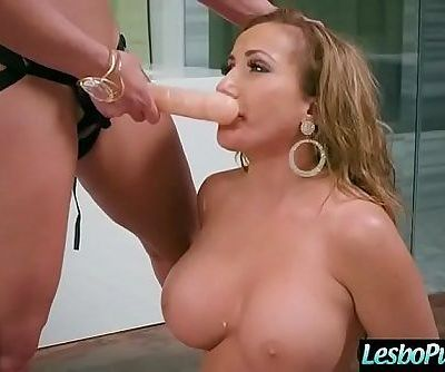 Lesbo Girls Punish Each Other With Dildos Clip-27