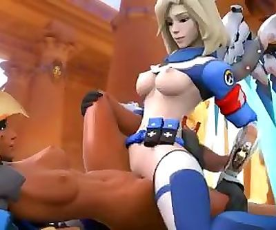 Mercy X Pharah Overwatch Uprising Skin