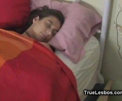 Lesbian Dildo Fucked in Sleep