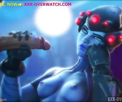 Brutal sex action with widowmaker from overwatch