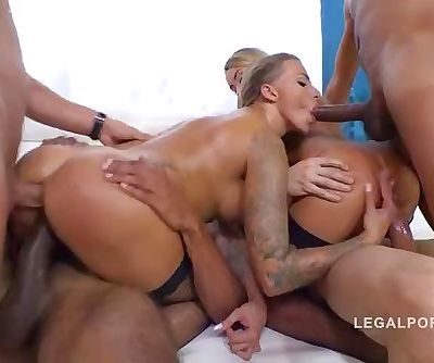 Katrin Tequila & Juelz Ventura extreme 4on2 orgy