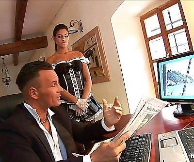 Horny Maid Eats Pussy then Sucks Dick Full HD 27 min 720p