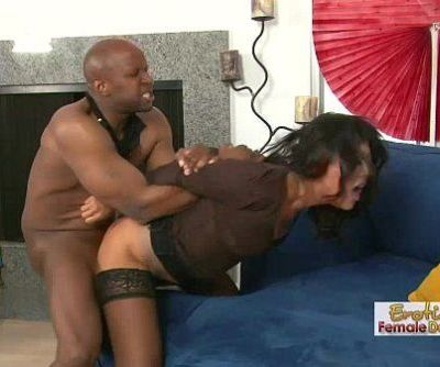 Buffed Black Stud Ruffing Up Some Asian Pussy - 28 min