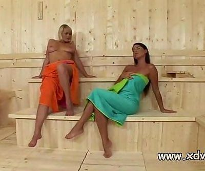 Zafira Klass Makes Sauna Day Amazing When She Stars Playing With Her Girlfriend