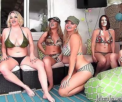 6 Girl Neighborhood Lesbian Orgy! Jelena Jensen, Vicky Vette, Maggie Green, Carmen Valentina, Rachel Storms and Its..