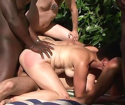 French cougars interracial anal party