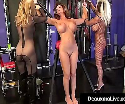 Deauxma Caged & Pleasured By Sally Dangelo & Nina Hartley! 11 min HD+