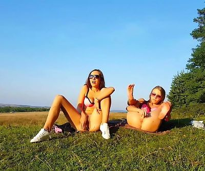 Dildoing Together for an Outdoor Orgasm