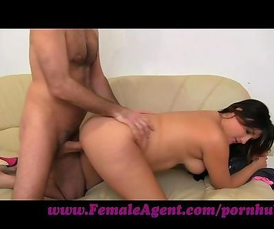 FemaleAgent. Ultimate casting orgasm for shy woman