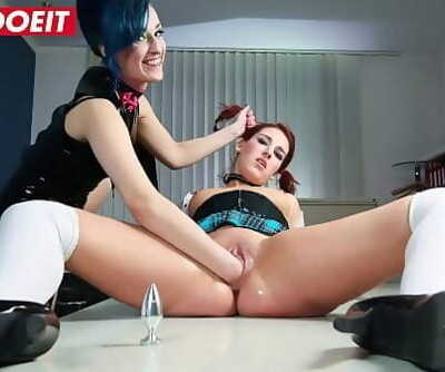 Sexy School Girl is dominated with rough punishment by lesbian 10 min 1080p